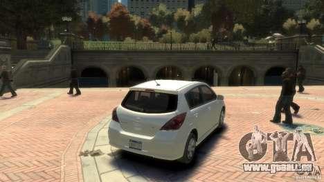 Nissan Versa SL pour GTA 4 est une gauche