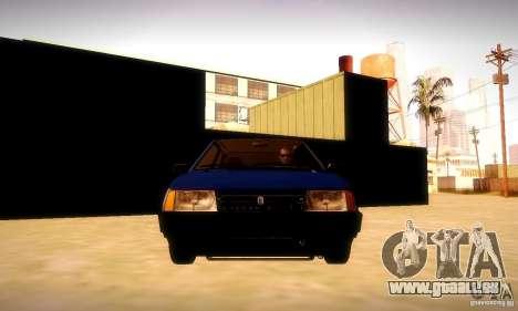 VAZ 2108 v2.0 pour GTA San Andreas vue intérieure