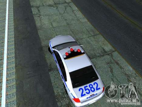 Chevrolet Impala NYPD für GTA San Andreas Rückansicht