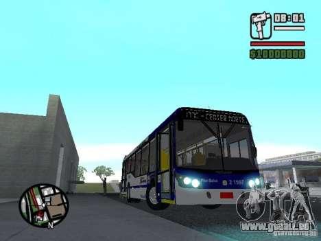 Busscar Urbanuss Ecoss MB 0500U Sambaiba pour GTA San Andreas vue intérieure