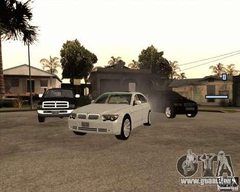 BMW 760i für GTA San Andreas