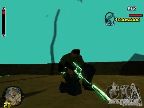 Blue weapons pack für GTA San Andreas