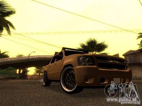 Chevrolet Avalanche Tuning pour GTA San Andreas laissé vue