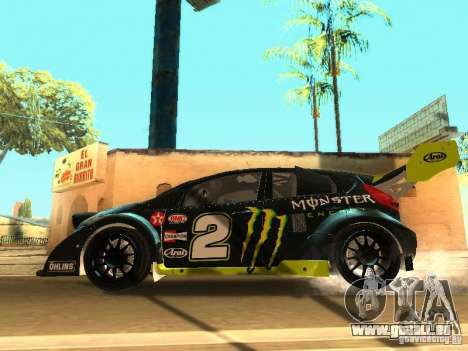 Ford Fiesta Rally Time pour GTA San Andreas vue de dessous