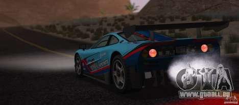 McLaren F1 JGTC Tuning 1995 pour GTA San Andreas vue intérieure