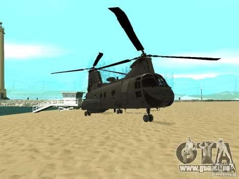 Hélicoptère Leviathan pour GTA San Andreas laissé vue