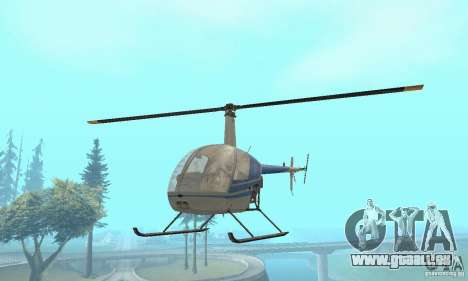 Robinson R22 pour GTA San Andreas vue de droite