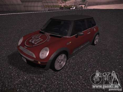 Mini Cooper S pour GTA San Andreas moteur