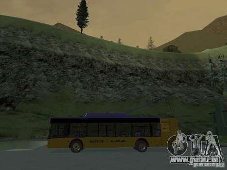 Trolleybus LAZ e-183 für GTA San Andreas obere Ansicht