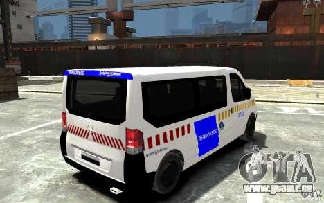 Opel Vivaro Hungarian Police Van für GTA 4 rechte Ansicht