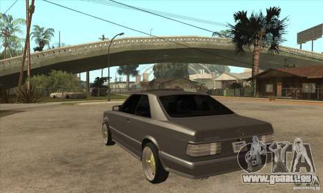 Mercedes-Benz 560 sec w126 1991 für GTA San Andreas zurück linke Ansicht
