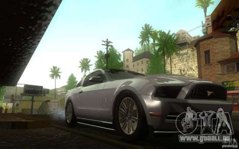 Ford Mustang GT V6 2011 pour GTA San Andreas vue arrière