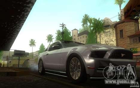 Ford Mustang GT V6 2011 pour GTA San Andreas vue arrière