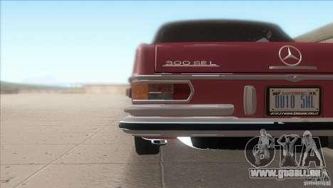 Mercedes-Benz 300 SEL für GTA San Andreas obere Ansicht