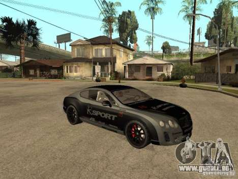 Bentley Continental SS Skin 4 pour GTA San Andreas vue de droite