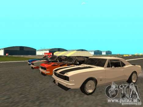 Chevrolet Camaro SS 396 Turbo-Jet pour GTA San Andreas salon