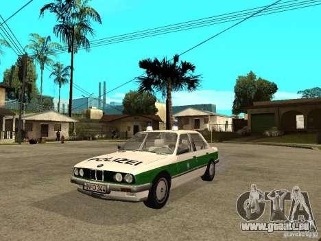 BMW E30 323i Polizei pour GTA San Andreas