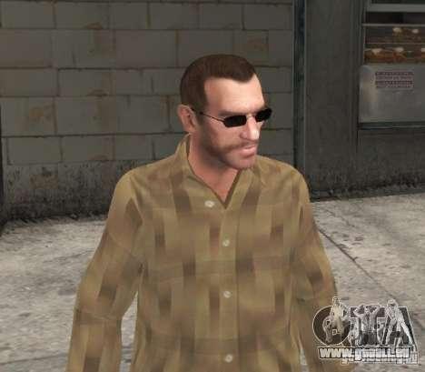 Nouvelles lunettes pour Niko-noir pour GTA 4 troisième écran