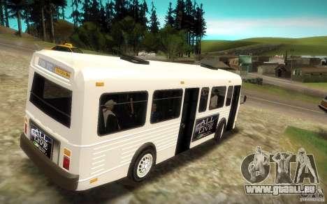 NFS Undercover Bus pour GTA San Andreas laissé vue
