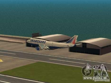 Boeing 747-400 pour GTA San Andreas vue de côté