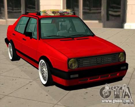 Volkswagen Jetta 1987 Eurostyle für GTA San Andreas zurück linke Ansicht