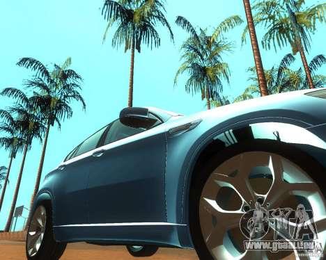 BMW Motorsport X6 M v. 2.0 für GTA San Andreas Rückansicht