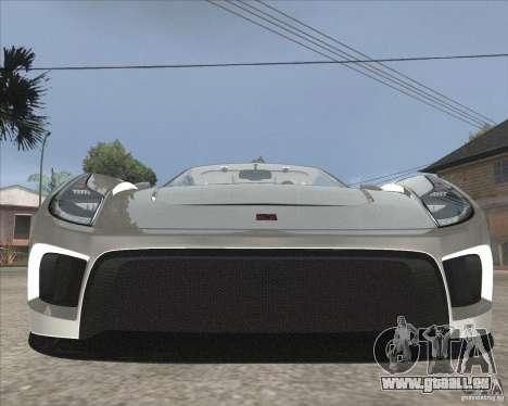 Saleen S5S Raptor pour GTA San Andreas vue arrière