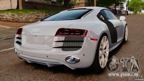 Audi R8 5.2 Stock 2012 Final pour GTA 4 Vue arrière de la gauche
