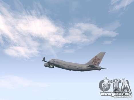 Boeing 747-400 China Airlines für GTA San Andreas rechten Ansicht