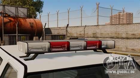 Polizei Rancher ELS für GTA 4 Rückansicht