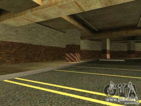 Le nouveau garage souterrain par la police à Los pour GTA San Andreas troisième écran