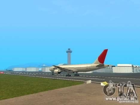 Boeing 777-200 Japan Airlines für GTA San Andreas rechten Ansicht
