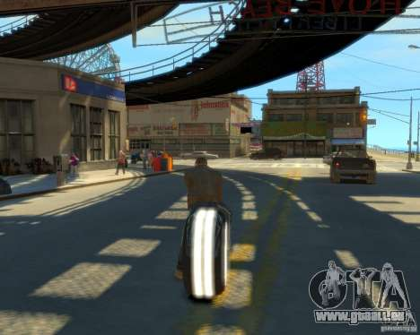 Moto du trône (néon blanc) pour GTA 4 est une gauche
