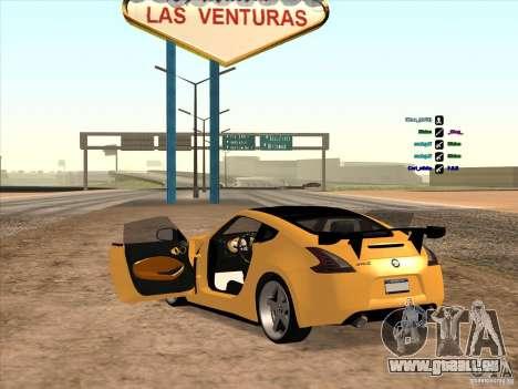Nissan 370Z pour GTA San Andreas vue arrière