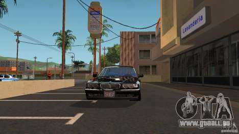 BMW E38 750LI pour GTA San Andreas vue arrière