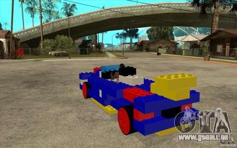 LEGO-mobile für GTA San Andreas zurück linke Ansicht