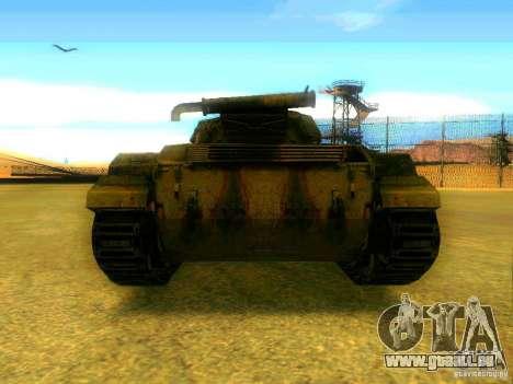 Tank Spiel S. T. A. L. k. e. R für GTA San Andreas zurück linke Ansicht
