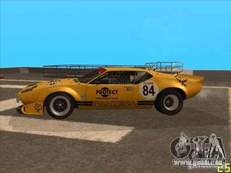 1972 DeTomaso Pantera pour GTA San Andreas sur la vue arrière gauche