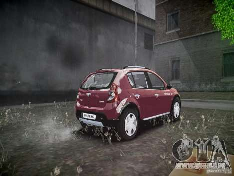 Dacia Sandero Stepway pour GTA 4 Vue arrière