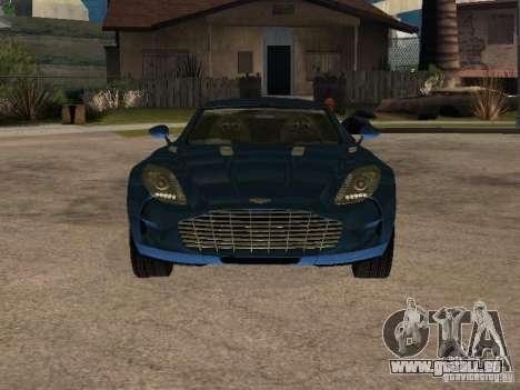 Aston Martin One77 für GTA San Andreas zurück linke Ansicht