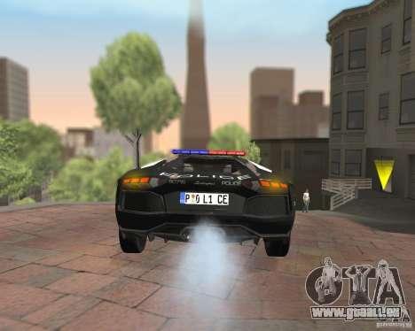 Lamborghini Aventador LP700-4 Police für GTA San Andreas Innenansicht