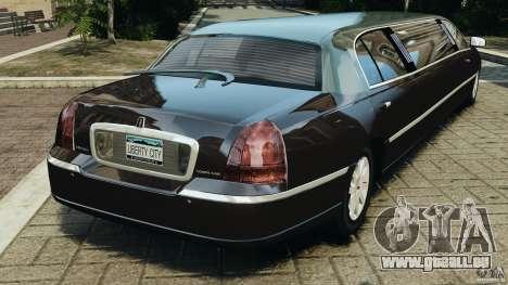 Lincoln Town Car Limousine 2006 für GTA 4 hinten links Ansicht