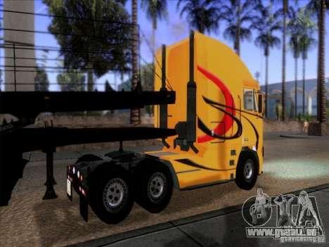 Freightliner Argosy Skin 2 pour GTA San Andreas sur la vue arrière gauche