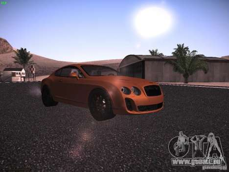 Bentley Continetal SS Dubai Gold Edition für GTA San Andreas linke Ansicht