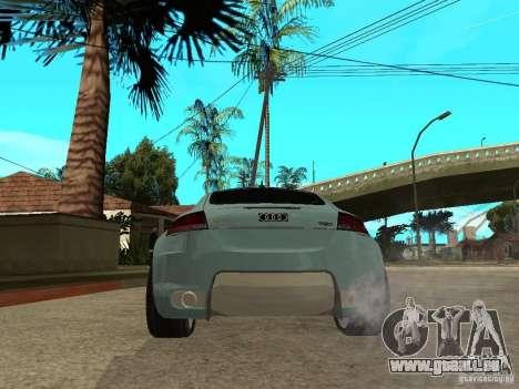 Audi TT 2007 Tuned pour GTA San Andreas sur la vue arrière gauche
