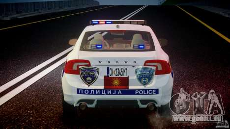Volvo S60 Macedonian Police [ELS] pour GTA 4 Salon