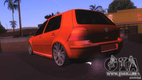 Volkswagen Golf IV pour GTA San Andreas laissé vue