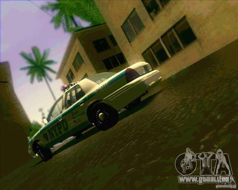 Ford Crown Victoria 2003 NYPD police V2.0 pour GTA San Andreas vue intérieure