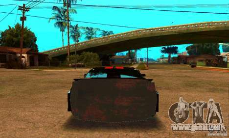 Ford Mustang Shelby GT500 From Death Race Script für GTA San Andreas zurück linke Ansicht