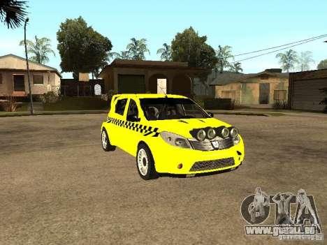 Dacia Sandero Speed Taxi für GTA San Andreas Rückansicht